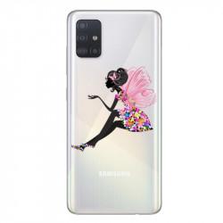 Coque transparente pour Samsung Galaxy A71 magique fee fleurie