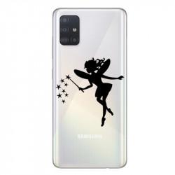 Coque transparente pour Samsung Galaxy A71 magique fee noir