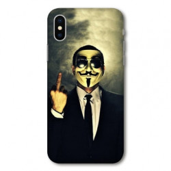 Coque pour Samsung Galaxy A01 Anonymous doigt