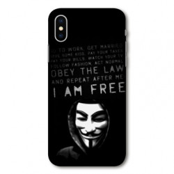 Coque pour Samsung Galaxy A01 Anonymous I am free