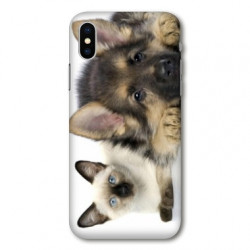 Coque pour Samsung Galaxy A01 Chien vs chat