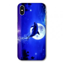 Coque pour Samsung Galaxy A01 Dauphin lune
