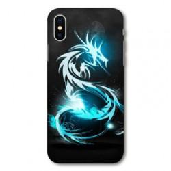 Coque pour Samsung Galaxy A01 Dragon Bleu