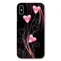 Coque pour Samsung Galaxy A01 Cœur rose Montant