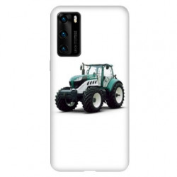 Coque pour Huawei P40 Agriculture Tracteur Blanc