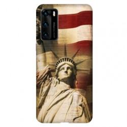 Coque pour Huawei P40 Amerique USA Statue liberté
