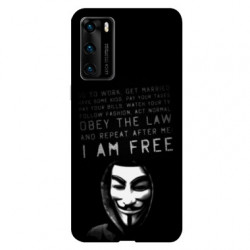 Coque pour Huawei P40 Anonymous I am free