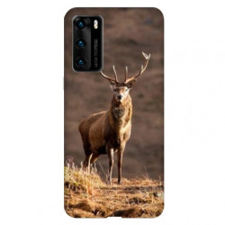 Coque pour Huawei P40 chasse chevreuil Blanc