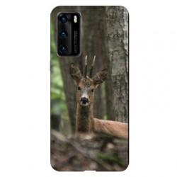 Coque pour Huawei P40 chasse chevreuil Bois