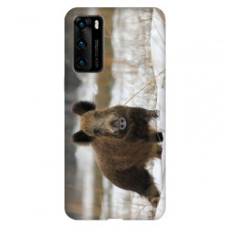 Coque pour Huawei P40 chasse sanglier Neige