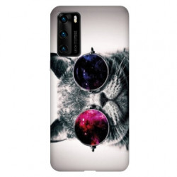Coque pour Huawei P40 Chat Fashion