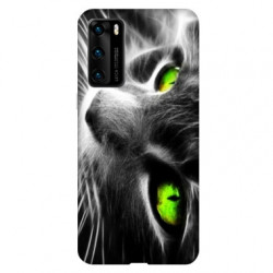 Coque pour Huawei P40 Chat Vert