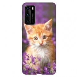 Coque pour Huawei P40 Chat Violet
