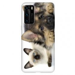 Coque pour Huawei P40 Chien vs chat