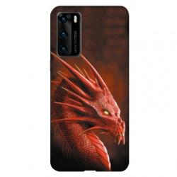 Coque pour Huawei P40 Dragon Rouge