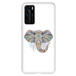 Coque pour Huawei P40 Ethniques Elephant Color B