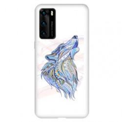 Coque pour Huawei P40 Ethniques Loup Color