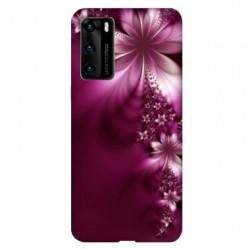 Coque pour Huawei P40 fleur violette montante