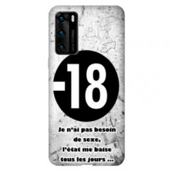 Coque pour Huawei P40 Humour 18 ans