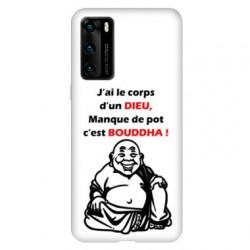 Coque pour Huawei P40 Humour Bouddha