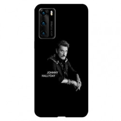 Coque pour Huawei P40 Johnny Hallyday Noir