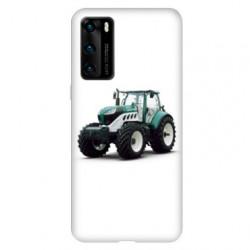 Coque pour Huawei P40 PRO Agriculture Tracteur Blanc