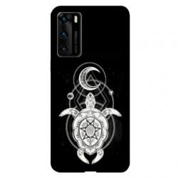 Coque pour Huawei P40 PRO Animaux Maori Tortue noir