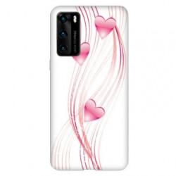 Coque pour Huawei P40 PRO Cœur rose Montant