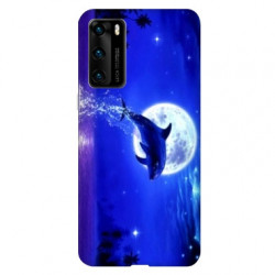 Coque pour Huawei P40 PRO Dauphin lune