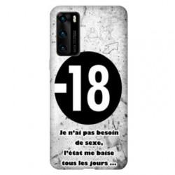 Coque pour Huawei P40 PRO Humour 18 ans