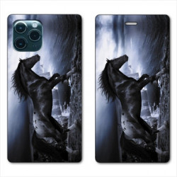 RV Housse cuir portefeuille pour Samsung Galaxy S20 Cheval