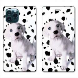 RV Housse cuir portefeuille pour Samsung Galaxy S20 Chien dalmatien
