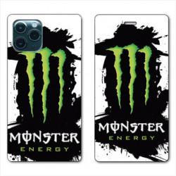 RV Housse cuir portefeuille pour Samsung Galaxy S20 Ultra Monster Energy tache