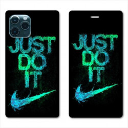 RV Housse cuir portefeuille pour Samsung Galaxy S20 Ultra Nike Just do it