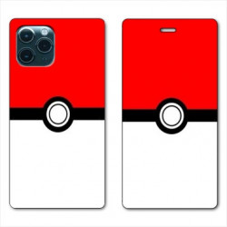 RV Housse cuir portefeuille pour Samsung Galaxy S20 Ultra Pokemon Pokeball