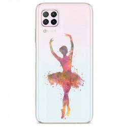 Coque transparente pour Huawei P40 Lite Danseuse etoile