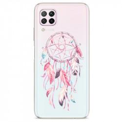 Coque transparente pour Huawei P40 Lite feminine attrape reve rose