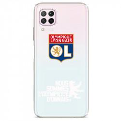 Coque pour transparente Huawei P40 Lite Licence Olympique Lyonnais - double face