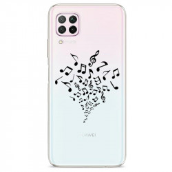 Coque transparente pour Huawei P40 Lite note musique