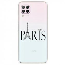 Coque transparente pour Huawei P40 Lite Paris noir