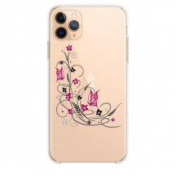 Coque transparente pour Samsung Galaxy S20 Ultra feminine fleur papillon