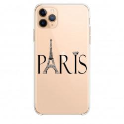 Coque transparente pour Samsung Galaxy S20 Ultra Paris noir