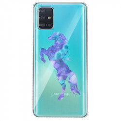 Coque transparente pour Samsung Galaxy S20 Cheval Encre