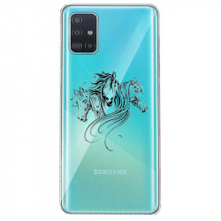 Coque transparente pour Samsung Galaxy S20 chevaux