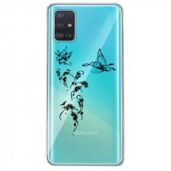 Coque transparente pour Samsung Galaxy S20 feminine envol fleur