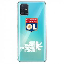 Coque pour transparente Samsung Galaxy S20 Licence Olympique Lyonnais - double face