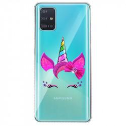 Coque transparente pour Samsung Galaxy S20 Licorne paillette