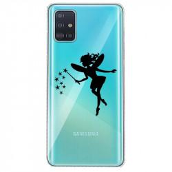 Coque transparente pour Samsung Galaxy S20 magique fee noir