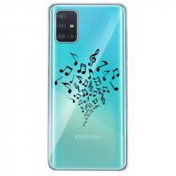 Coque transparente pour Samsung Galaxy S20 note musique
