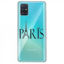 Coque transparente pour Samsung Galaxy S20 Paris noir